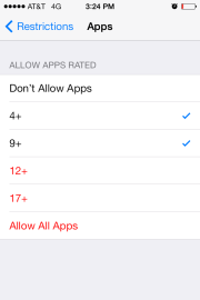ios7 restriction apps