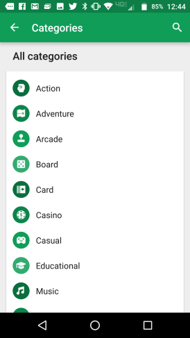 Android Google play categories store 005
